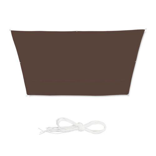 relaxdays Sonnensegel »Trapez Sonnensegel braun« 300 cm x 0.5 cm x 400 cm;400 cm x 0.5 cm x 550 cm