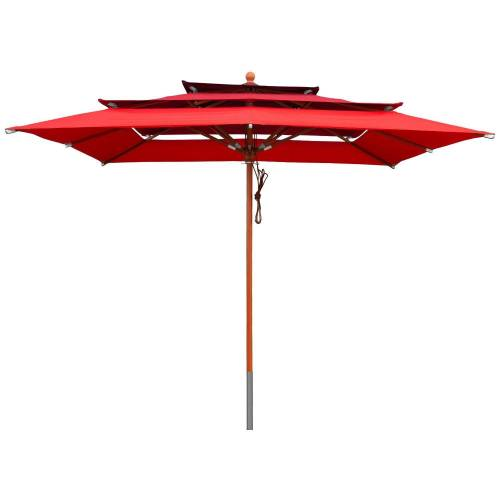 anndora-sonnenschirm Sonnenschirm »Sonnenschirm 3-lagig 3x3m - Farbwahl«, Red