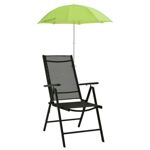 vidaXL Sonnenschirm »Sonnenschirme für Campingstühle 2 Stk, Grün 105 cm«