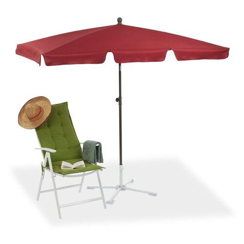 relaxdays Sonnenschirm »Rechteckiger Sonnenschirm für den Garten«, Bordeaux