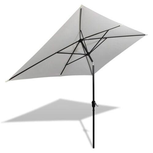 vidaXL Sonnenschirm »Sonnenschirm 200 x 300 cm Grün und Sandweiß Rechteckig«, Weiß