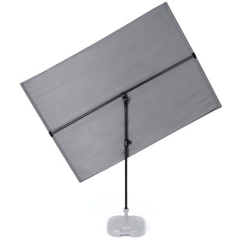Hoberg Sonnenschirm »flexibler Sonnenschirm - ca. 130 x 180 cm - rechteckig - grau«
