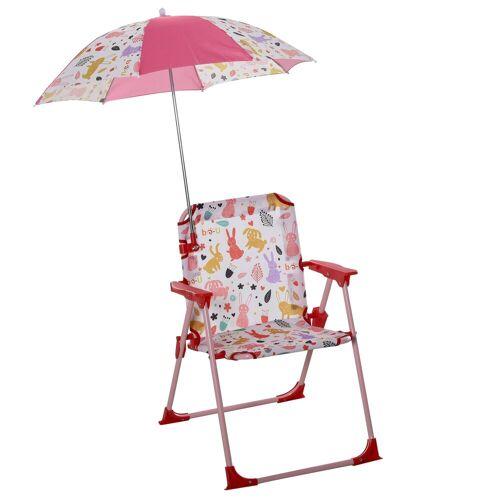 Outsunny Stuhl »Kinder-Campingstuhl mit Sonnenschirm«, rot