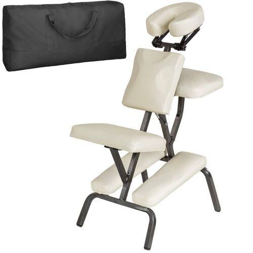 tectake Massagesessel »Massagestuhl aus Kunstleder« (1-St), beige