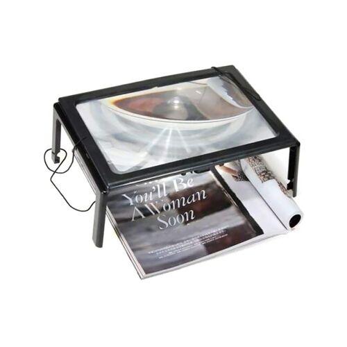 kueatily Lupenlampe »Lupe mit LED-Licht 5X Leselupe LED-Lesehilfe Lupe A4 Tischlupe Licht Faltbare Desktop-Leuchtlupe Freihändige Leuchtlupe zum Lesen, Nähen, Basteln, Hobby«