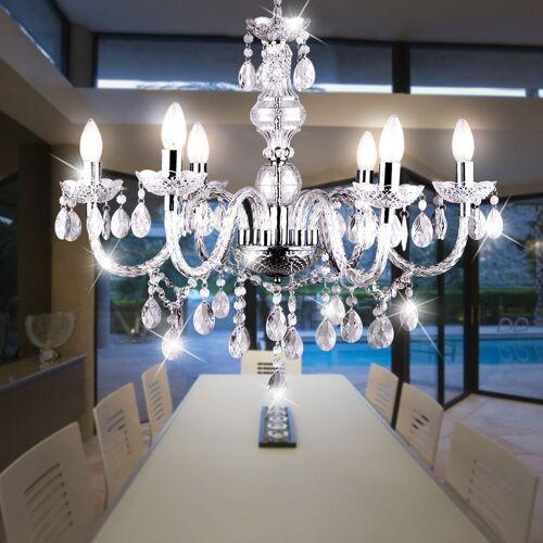 etc-shop Kronleuchter, LED Kronleuchter Decken- Hänge- Pendel- Lampe Design Leuchte Wohn- Ess- Zimmer Luster Lüster Beleuchtung Kristall-Dekor