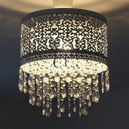 Grafelstein Wandleuchte »Hängelampenschirm MARRAKECH weiß Lampenschirm aus Metall mit Kristallen«