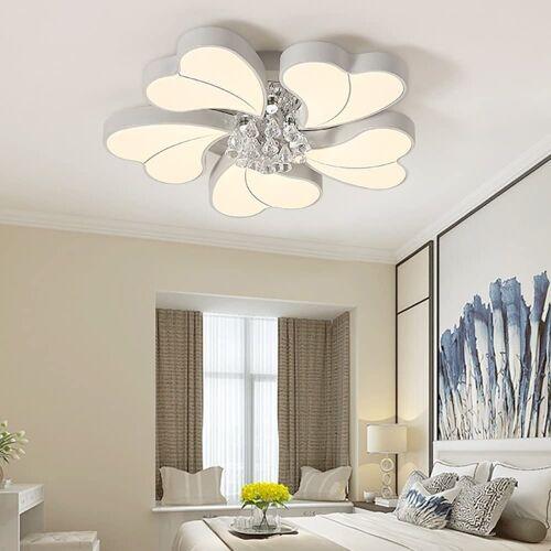 Natsen Deckenleuchte, 45W+3W LED Deckenlampe Kronleuchter Volldimmbar mit Fernbedienung Kristallampe [Energieklasse A++] Ø 65 cm;Ø 72 cm