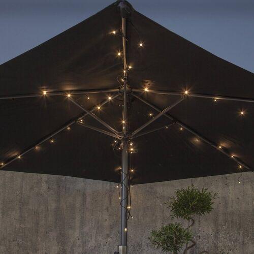 STAR TRADING LED-Lichterkette »LED Lichterkette für Sonnenschirm 8 Stränge LED Batterie Timer outdoor Terasse«, 64-flammig