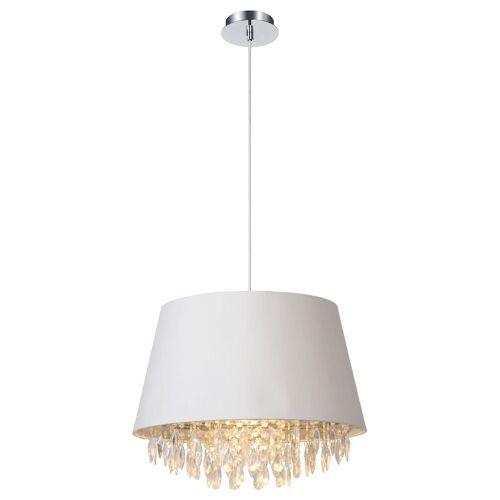 click-licht Hängeleuchte »Pendelleuchte Dolti in weiß, mit Kristallbehang,«, Hängeleuchte, Pendellampe, Pendelleuchte, Weiß