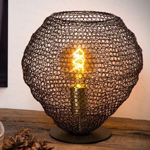 click-licht Nachttischlampe »Tischlampe Saar aus Metall in Schwarz E27«, Tischleuchte, Nachttischlampe, Tischlampe