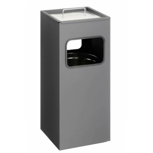 DURABLE Papierkorb »Papierkorb Metall mit Ascher eckig 333158«