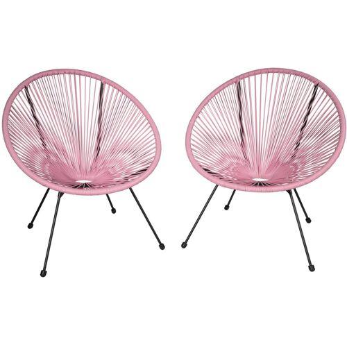 tectake Gartenstuhl »2 Gartenstühle Gabriella«, pink
