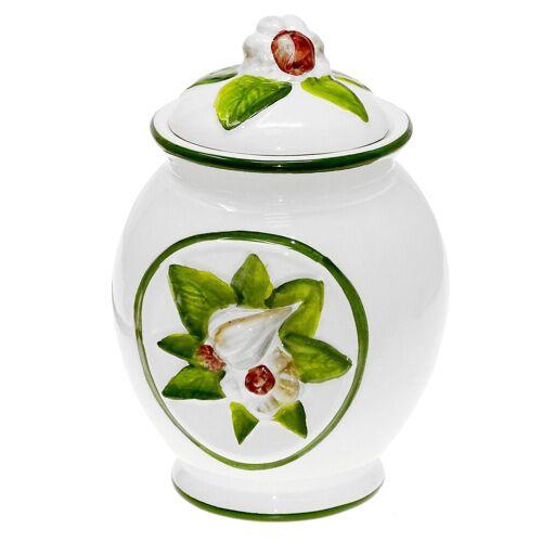 Lashuma Vorratsdose »Knoblauch«, Keramik, (1-tlg), Aufbewahrungsdose 16 cm hoch, Knoblauchtopf rund