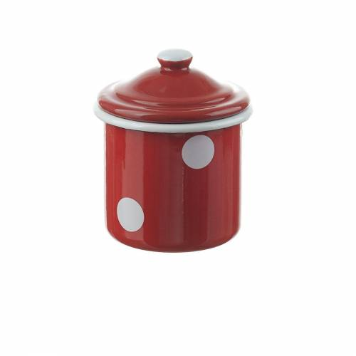 Neuetischkultur Zuckerdose »Zuckerdose mit Deckel Retro«, Emaille, (1-tlg), Rot, Weiß