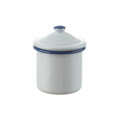 Neuetischkultur Zuckerdose »Zuckerdose mit Deckel Retro«, Emaille, (1-tlg), Weiß