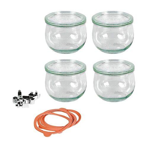 Weck Einmachglas »4er-Set Eingläser Tulpenglas-Form 0,5l, mit«