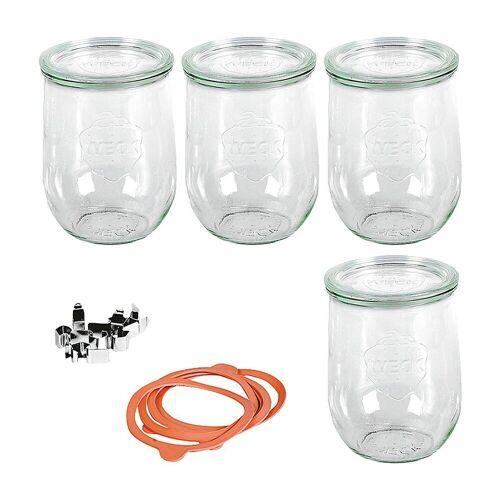 Weck Einmachglas »4er-Set Eingläser Tulpenglas-Form 1l, mit«