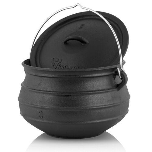 BBQ-Toro Feuertopf »Potjie #3, für 8 - 14 Personen, 8 Liter, ohne Füße Kochtopf«