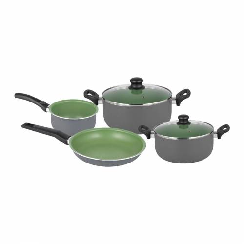 Michelino Topf-Set »Kochtopf-Set 6-teilig Lara«, Aluminium, (6-tlg), Topfset, Grün