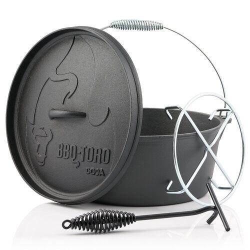 BBQ-Toro Feuertopf »Dutch Oven DO9AX, 7,2 L Alpha Gusseisen Kochtopf, Gusstopf«