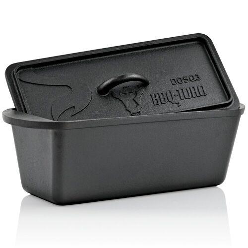 BBQ-Toro Feuertopf »Dutch Oven Backtopf, 3,0 Liter, Gusseisen Kochtopf, Gusstopf«