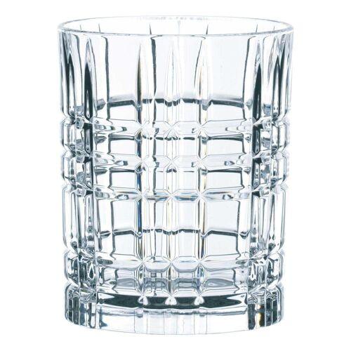 Nachtmann Gläser-Set »Square Whiskey 4er Set 345 ml«, Kristallglas