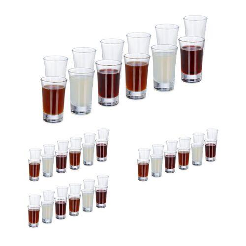 relaxdays Schnapsglas »48 x Schnapsgläser 4cl«, Glas