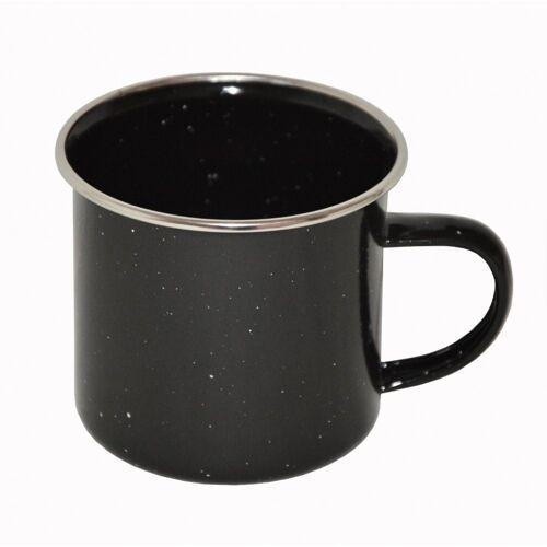 A. Blöchl Tasse »Tasse emaillierter Stahl schwarz neu (350 ml)«, emaillierten Stahl, Tasse aus emaillierten Stahl