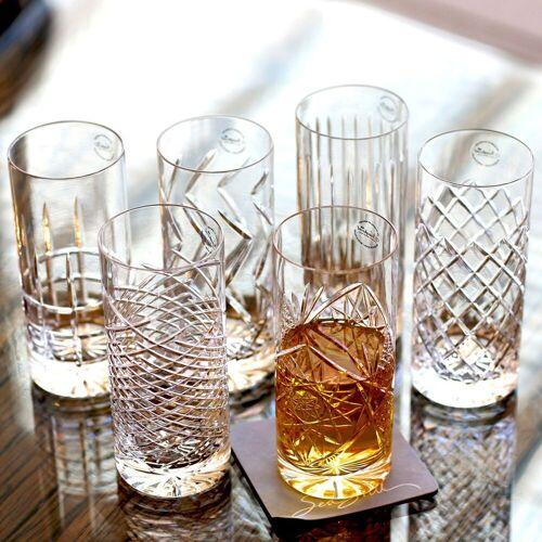 Newport Gläser-Set »JFK Tumbler Highball 6er Set; Kristallgläser / Longdrinkgläser«, Glas, mundgeblasen & handgeschliffen