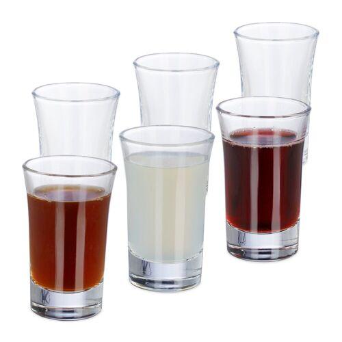 relaxdays Schnapsglas »Schnapsgläser 4cl im 6er Set«, Glas