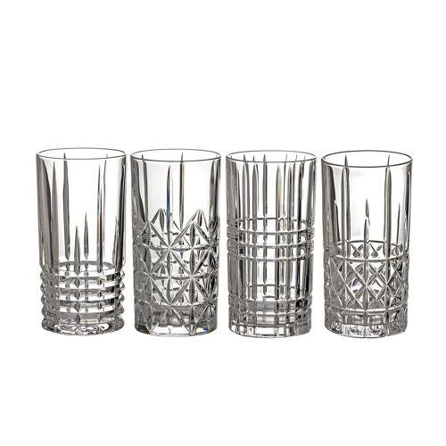 Nachtmann Longdrinkglas »4er Set Highland Longdrink Gläser 445 ml«, Kristallglas