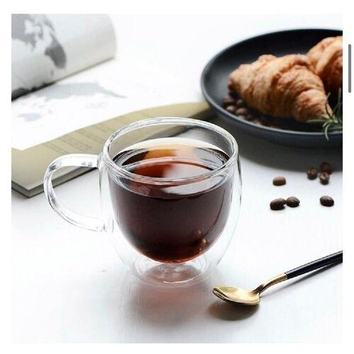 ZELLERFELD Teeglas »2 x Teegläser Kaffeegläser mit Henkel Doppelwand 250ml ideal für Tee, Kaffee, Kakao, Cappucino Heat-Resistant Glass« 250 ml