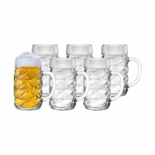 Stölzle Bierkrug »DIAMOND Bierkrug 0,5 l 6-tlg.«, Glas