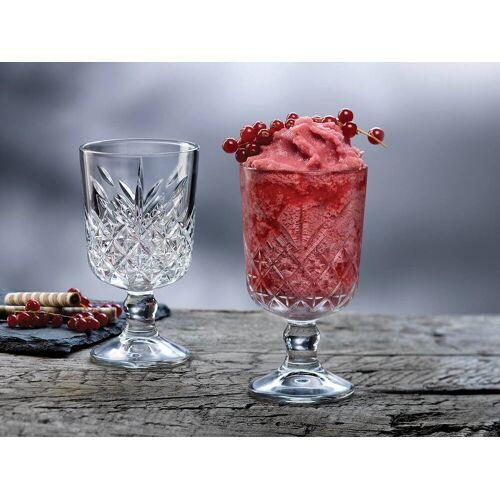 Pasabahce Gläser-Set »Cocktailkelch, Weinkelch, Dessertkelch 12 Stk.«, Glas, Kristall Look
