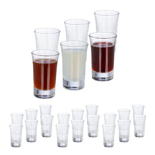 relaxdays Schnapsglas »24 x Schnapsgläser 4cl«, Glas