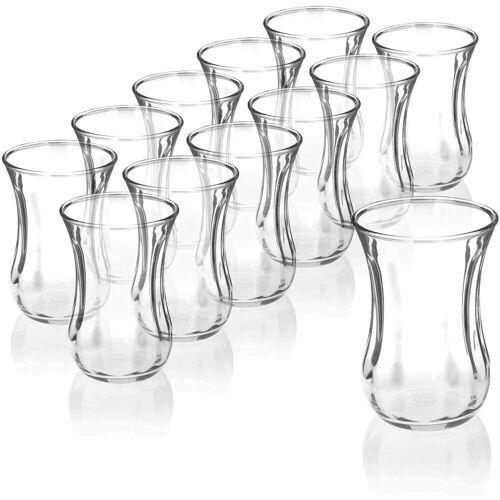 """Pasabahce Teeglas »12er-Set 42021 Türkische Teegläser Teeglas Tee Glas """"Optik"""" 120cc Gläser-Set«"""