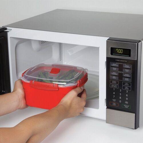 sistema Dampfgarer Mikrowellen Dampfgarer 2.4 l, rot