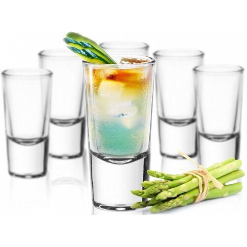 Sendez Schnapsglas »24 Schnapsgläser Tequilagläser Gläser Schnapsglas Stamper Shots Wodkagläser Klar«, Glas