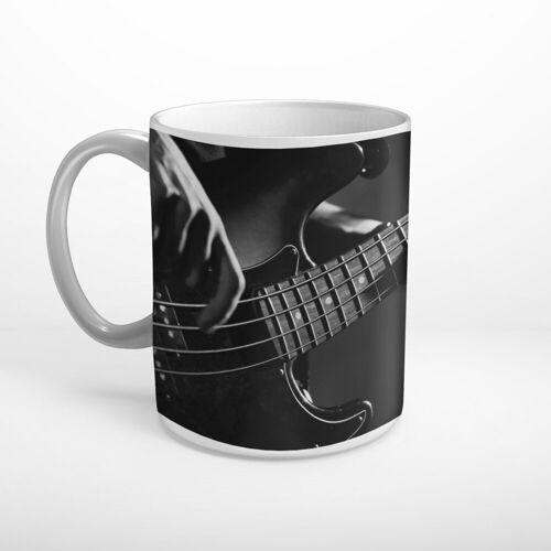 DesFoli Tasse »Bass Bassgitarre Musiker Schwarz Weiß T1202«, Keramik
