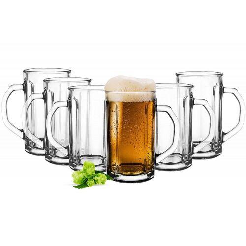 Sendez Bierglas »6 Bierseidel 500ml Biergläser Bierkrüge Bierglas Pilsgläser Bierglas Gläser«, Glas