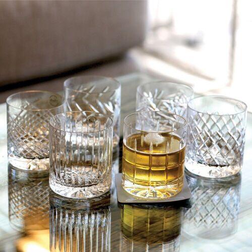 Newport Gläser-Set »JFK Tumbler Low 6er Set; Kristallgläser / Whiskygläser«, Kristallglas, mundgeblasen & handgeschliffen
