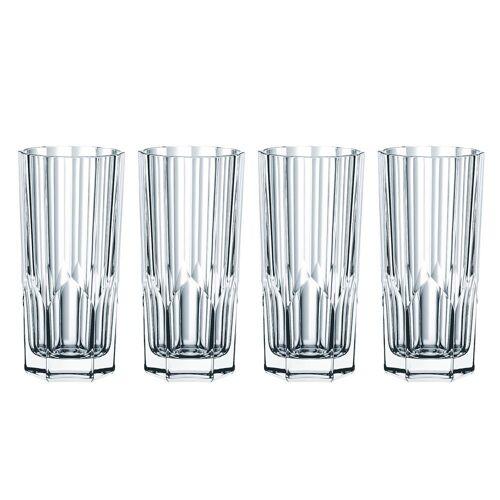 Nachtmann Longdrinkglas »Spiegelau & 4x Longdrink Gläser Aspen aus Kristallglas 0092127 − Made in Germany − 309 ml − Longdrink−Set«, Kristallglas