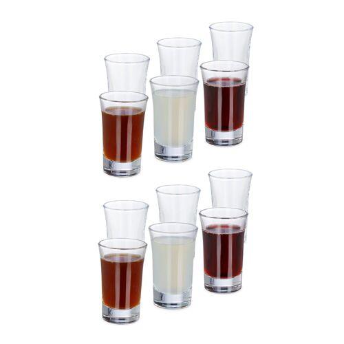 relaxdays Schnapsglas »Schnapsgläser 4cl im 12er Set«, Glas