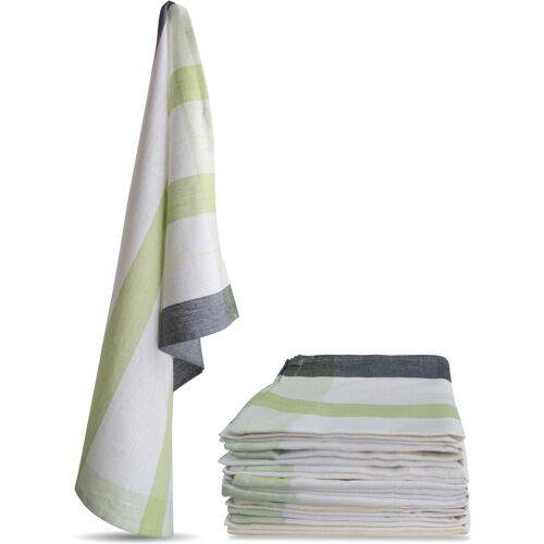 normani Geschirrtuch »10 Stück Geschirrtücher New Design«, Grün 55 cm x 75 cm