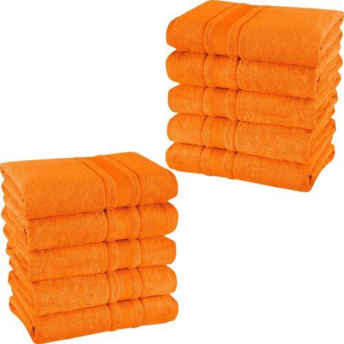 Mixibaby Handtuch, Baumwolle, Orange 140 cm x 70 cm;150 cm x 100 cm;21 cm x 15 cm