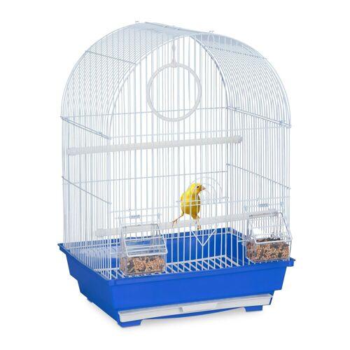 relaxdays Vogelkäfig »Vogelkäfig mit Zubehör blau«