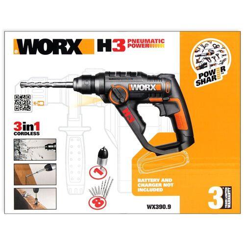 Worx Akku-Bohrhammer »WX390.9 Akku Bohrhammer 20V Solo, pneumatisc«