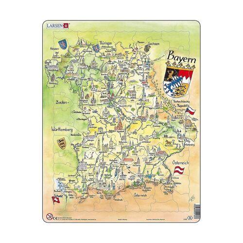 Larsen Puzzle »Rahmen-Puzzle, 80 Teile, 36x28 cm, Karte Bayern«, Puzzleteile