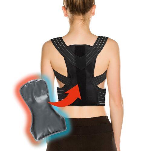 MAXXMEE Rückentrainer, Rückenkorrektor / Haltungskorrektor mit Gelpad L/XL